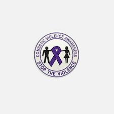domestic violence Mini Button