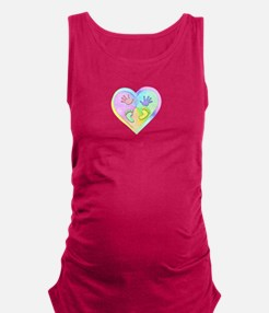 Pastel Baby Hands and Feet Heart Maternity Tank To