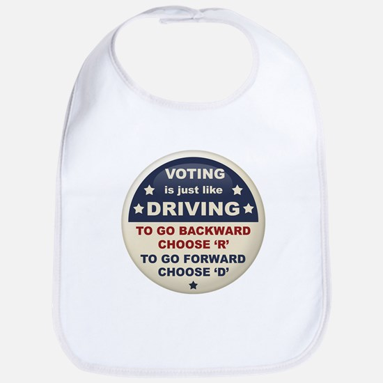 Voting Like Driving Bib