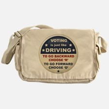 Voting Like Driving Messenger Bag