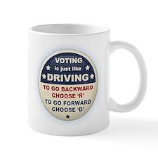 Voting Like Driving Small Mug