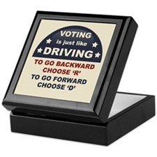 Voting Like Driving Keepsake Box