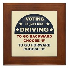Voting Like Driving Framed Tile