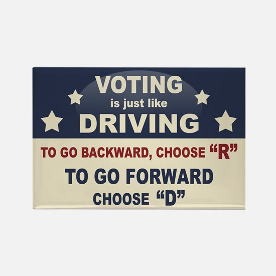 Voting Like Driving Rectangle Magnet