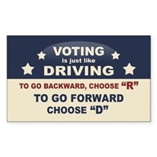 Voting Like Driving Decal