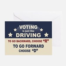 Voting Like Driving Greeting Card