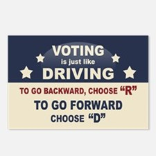 Voting Like Driving Postcards (Package of 8)