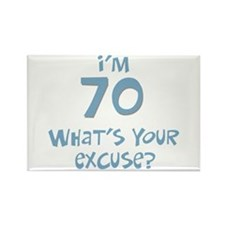 70th birthday excuse Rectangle Magnet