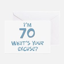 70th birthday excuse Greeting Cards (Pk of 10)