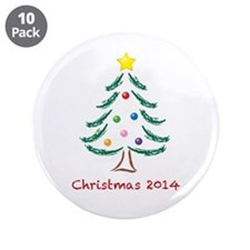 """Christmas 2014 3.5"""" Button (10 pack)"""