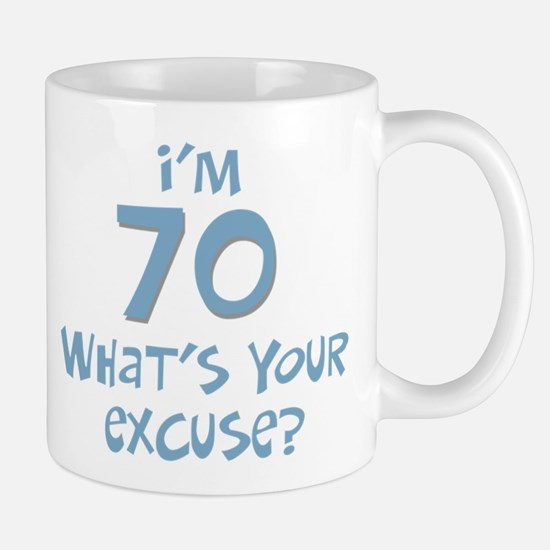 70th birthday excuse Mug