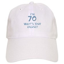 70th birthday excuse Baseball Cap
