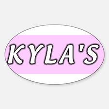 Baby name Kyla Oval Decal