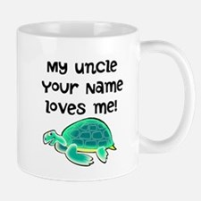 My Uncle Loves Me Turtle Mugs