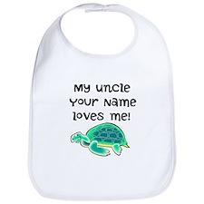 My Uncle Loves Me Turtle Bib