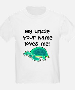My Uncle Loves Me Turtle T-Shirt