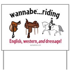 WB Riding-All Around Yard Sign