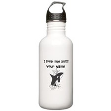 I Love My Aunt Killer Whale Water Bottle