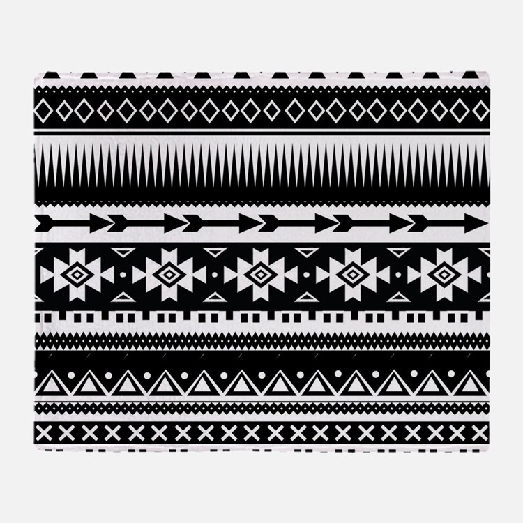 Tribal Aztec Geometric Throw Blanket