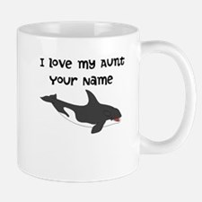 I Love My Aunt Orca Whale Mugs