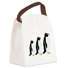 Penguin Parade Canvas Lunch Bag
