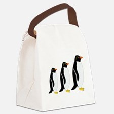 Penguin Parade Canvas Lunch Bag