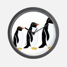 Penguin Parade Wall Clock