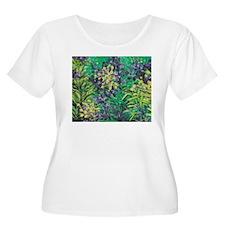 Garden Scene Plus Size T-Shirt