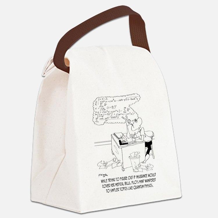 Insurance Cartoon 8760 Canvas Lunch Bag