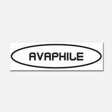 Avaphile Black on White Car Magnet 10 x 3