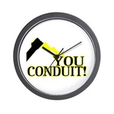 You Conduit Wall Clock