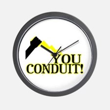 You Conduit Wall Clock