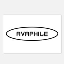 Avaphile Black on White Postcards (Package of 8)