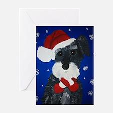 Unique Schnauzer christmas Greeting Card
