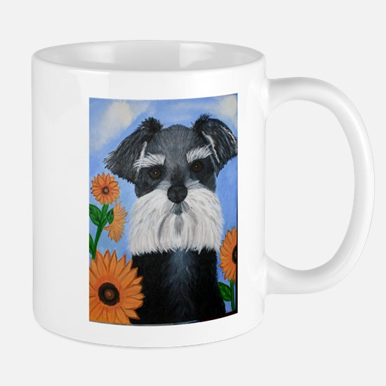 Cute Salt and pepper giant schnauzer Mug