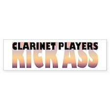 Clarinet Players Kick Ass Bumper Bumper Sticker