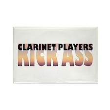 Clarinet Players Kick Ass Rectangle Magnet