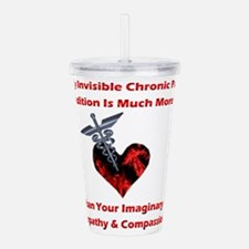 Invisible Chronic Pain Red Heart.png Acrylic Doubl