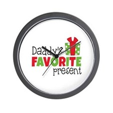 Daddy's Favorite Present Wall Clock