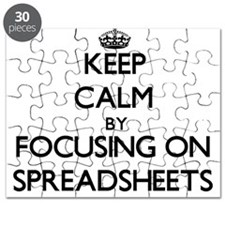 Keep Calm by focusing on Spreadsheets Puzzle