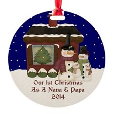 1St Christmas As A Nana And Papa 2014 Ornament
