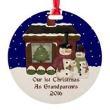 Grandparents christmas Round Ornament
