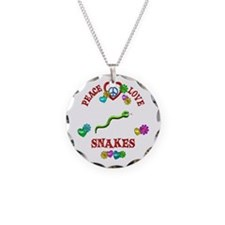 Peace Love Snakes Necklace