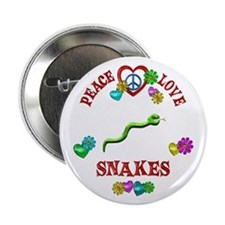 "Peace Love Snakes 2.25"" Button"