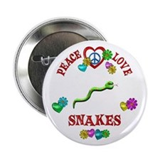 """Peace Love Snakes 2.25"""" Button (100 pack)"""