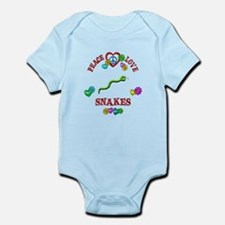 Peace Love Snakes Infant Bodysuit