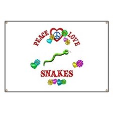 Peace Love Snakes Banner