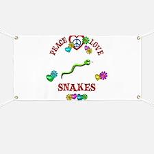 Peace Love Snakes Banner
