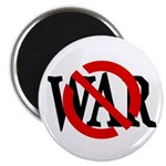 Red Slash through War Magnet