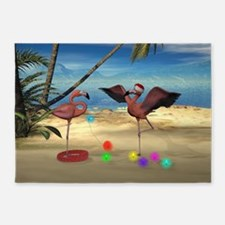 Flamingo Holiday 5'x7'Area Rug